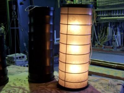 和風提灯(円筒形・黒)
